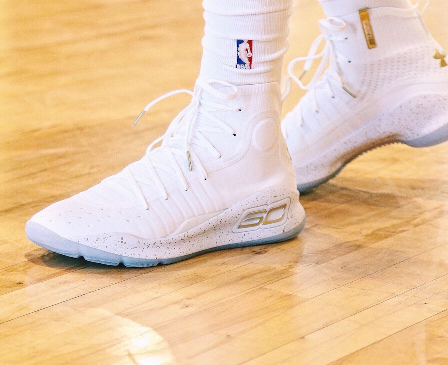 de3345dcbcde Fancred Sports   Steph Curry s brand Under Armour Curry 4 shoes are ...  actually pretty cool!