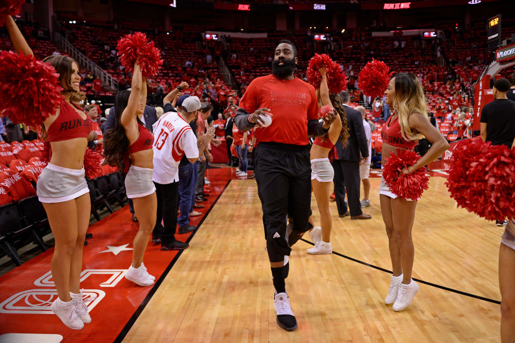 b2d9da10c21 James Harden allegedly spent so much at a Houston strip club they have his  jersey in the rafters